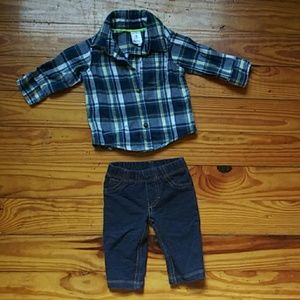 Other - Baby boy jeans and flannel